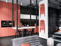 red-metal-dining-chair