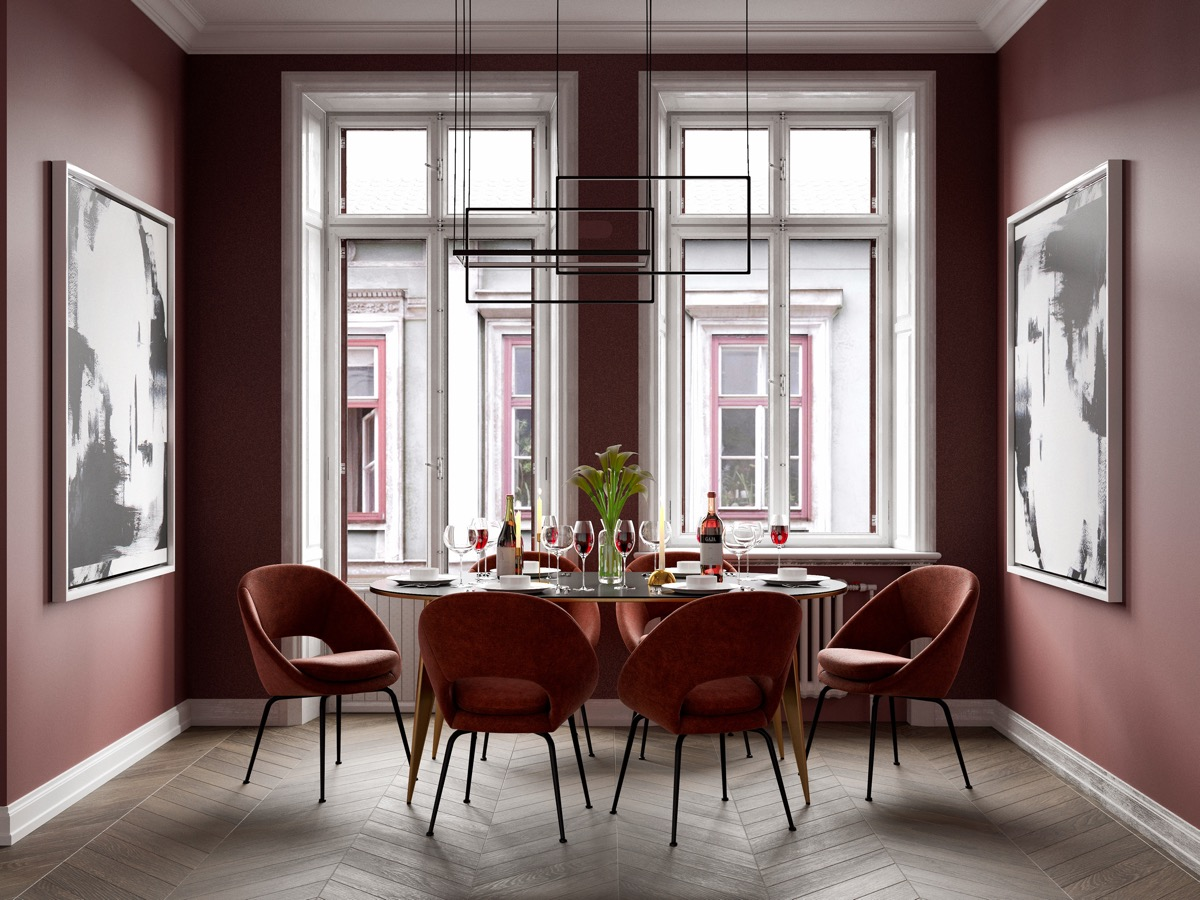 red-upholstered-dining-chairs
