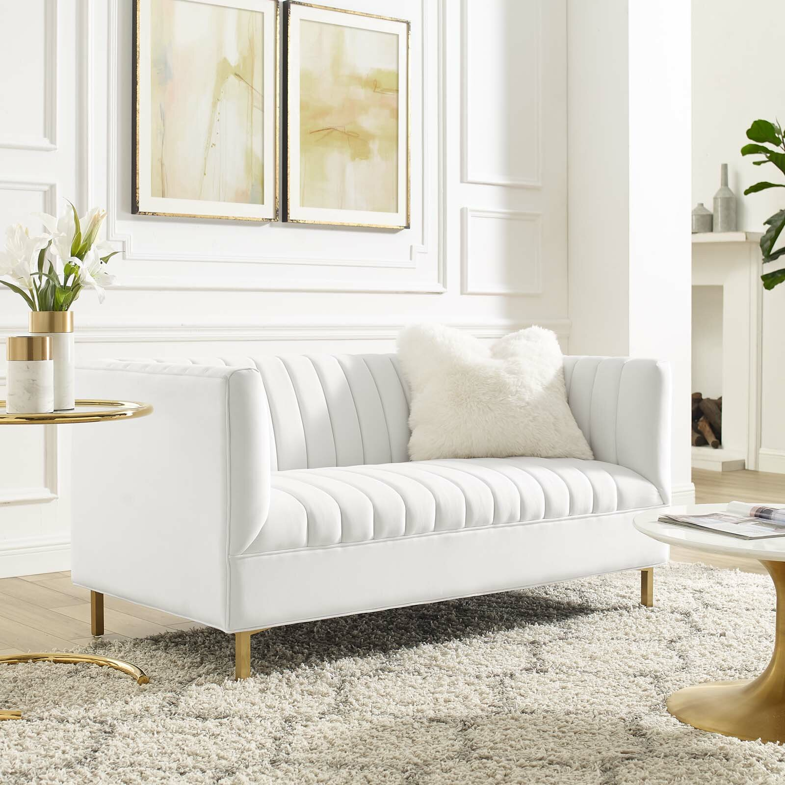 60-inch-small-tufted-sofa-in-white-velvet-gold-legs-luxurious-space-saving-furniture-for-apartment-loft-living-room-bedroom-or-home-office