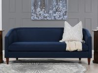 72-inch-sofa-for-small-space-curved-cabriole-back-tapered-legs-dark-blue-upholstery-bench-seat