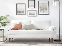 73-inch-small-white-sofa-with-faux-leather-upholstery-modern-apartment-furniture-inspiration-tapered-legs-bolster-pillows-mid-century-legs