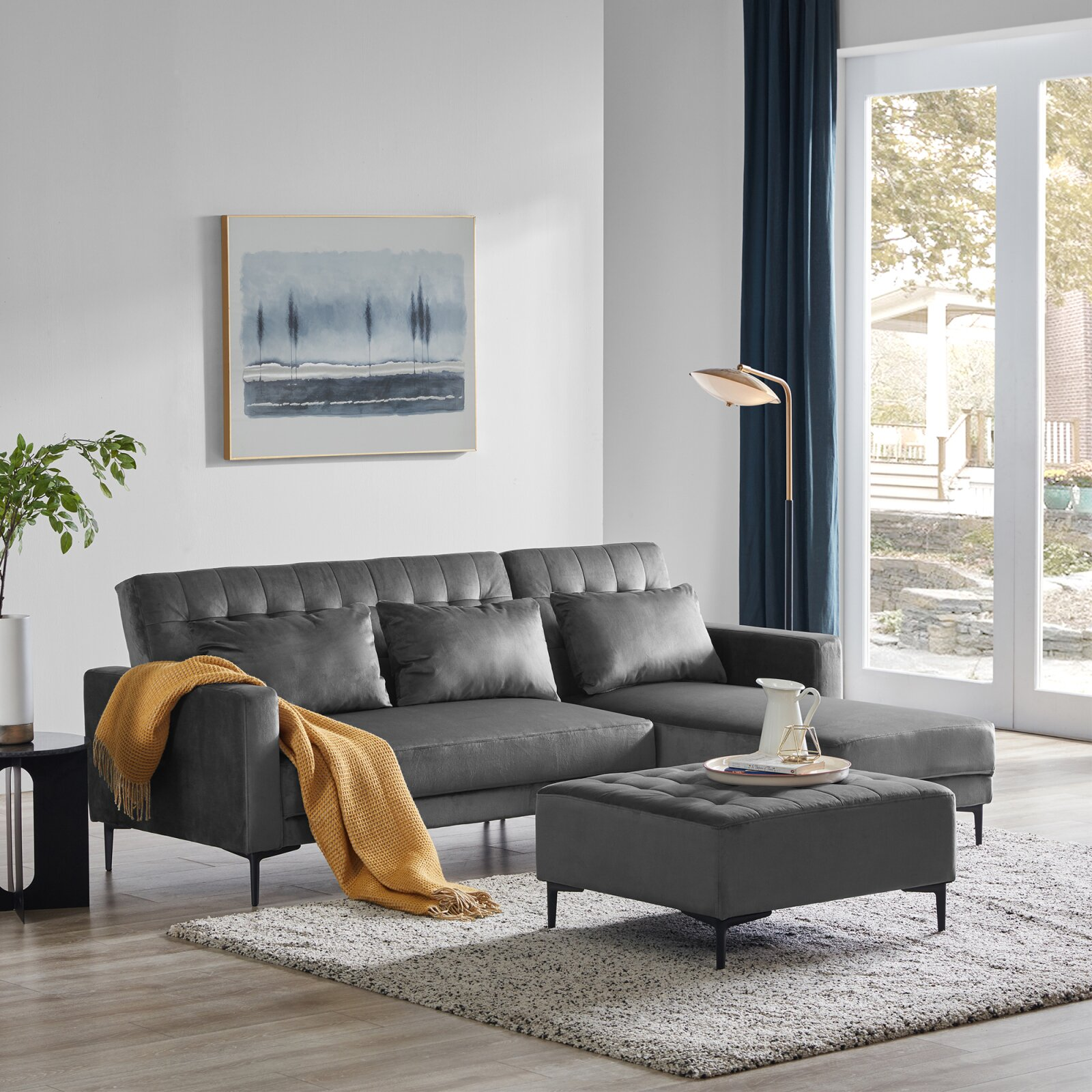 86-inch-small-sectional-sleeper-sofa-grey-upholstery-couch-with-chaise-and-ottoman-space-saving-furniture-for-modern-apartments
