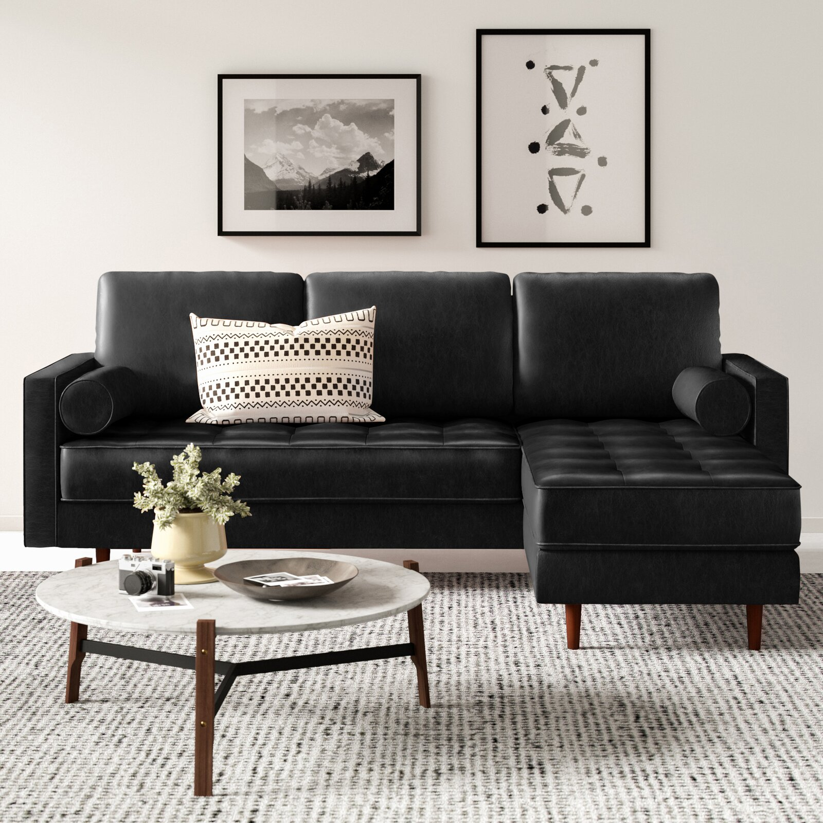 88-inch-small-leather-sectional-sofa-black-upholstery-tufted-bench-seats-modern-space-saving-couch-with-chaise