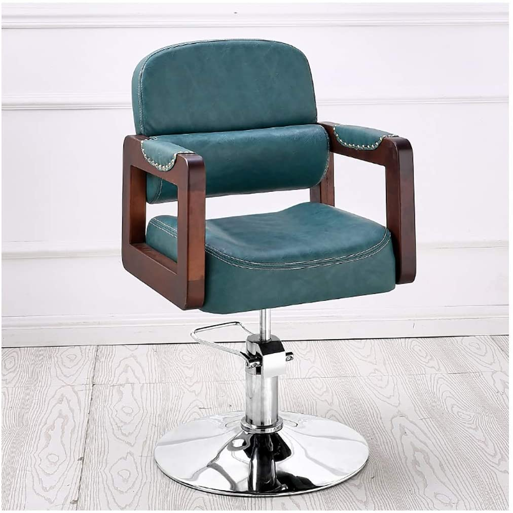 Blue-Leather-Swivel-Office-Chair