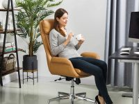 Camel-Leather-Office-Chair