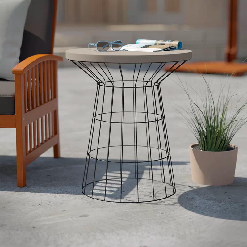 Concrete-Top-Wire-Base-Outdoor-Side-Table