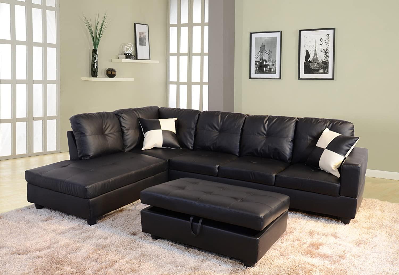 Contemporary-Faux-Leather-Modular-Sofa