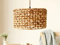 Drum-Shaped-Rattan-Wicker-Pendant