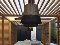 Dual-Tone-Beige-Black-Rattan-Pendant-Light