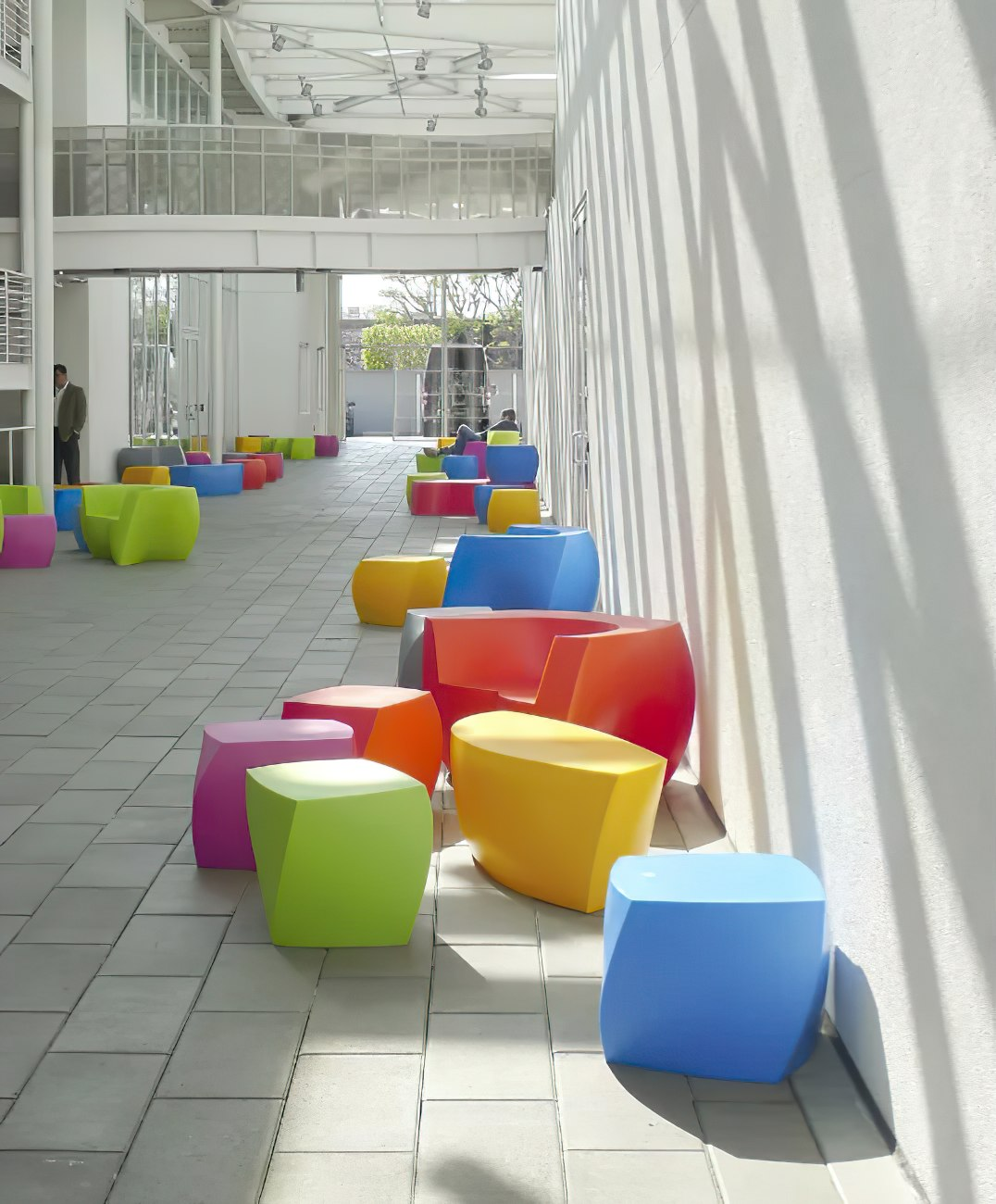 Frank-Gehry-Multicolor-Outdoor-Side-Table