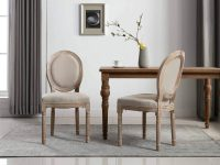 French-country-dining-chairs-upholstered-distressed-solid-wood-frame-ornate-carvings-round-backrest-louis-style-chair-for-rustic-cottage-chic