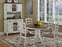 French-farmhouse-dining-table-thick-pedestal-base-warm-wood-top-42-inch-oak-tabletop-rustic-furniture-ideas