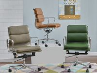 Green-Mid-Back-Leather-Office-Chair