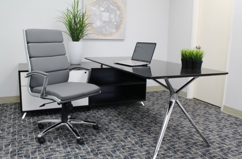 Grey-High-Backed-Modern-Office-Chair