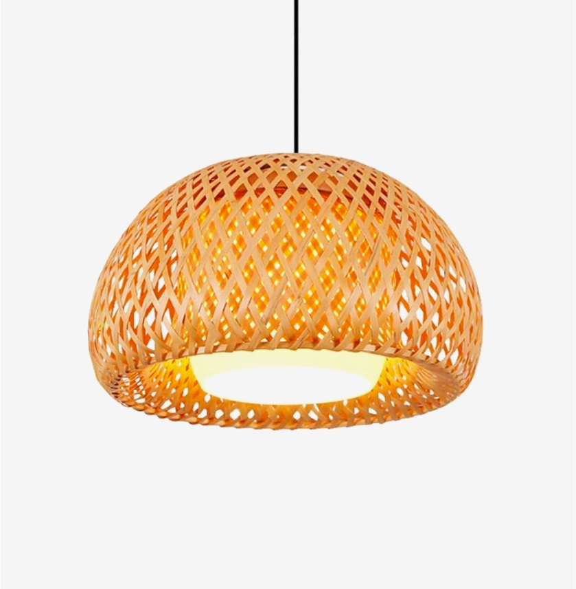Half-globe-rattan-pendant-light-shades