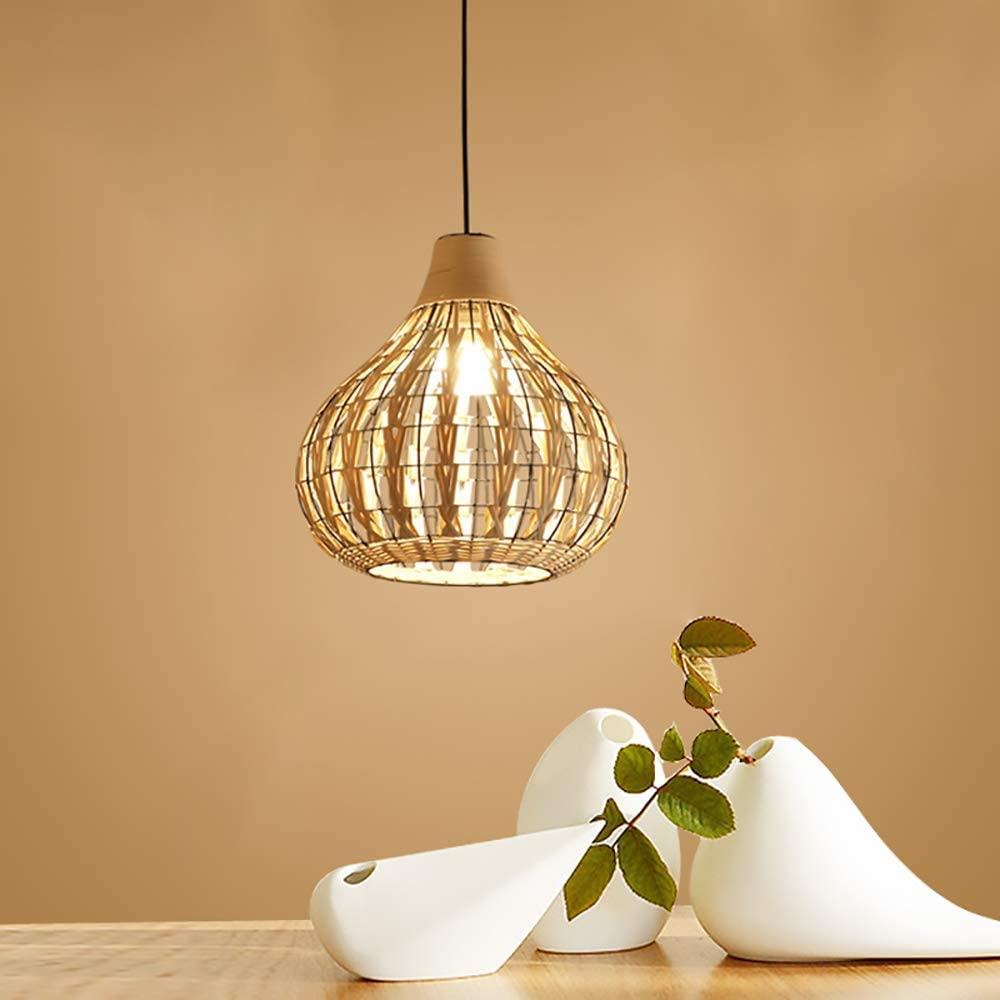 Intricate-rattan-wicker-pendant-light