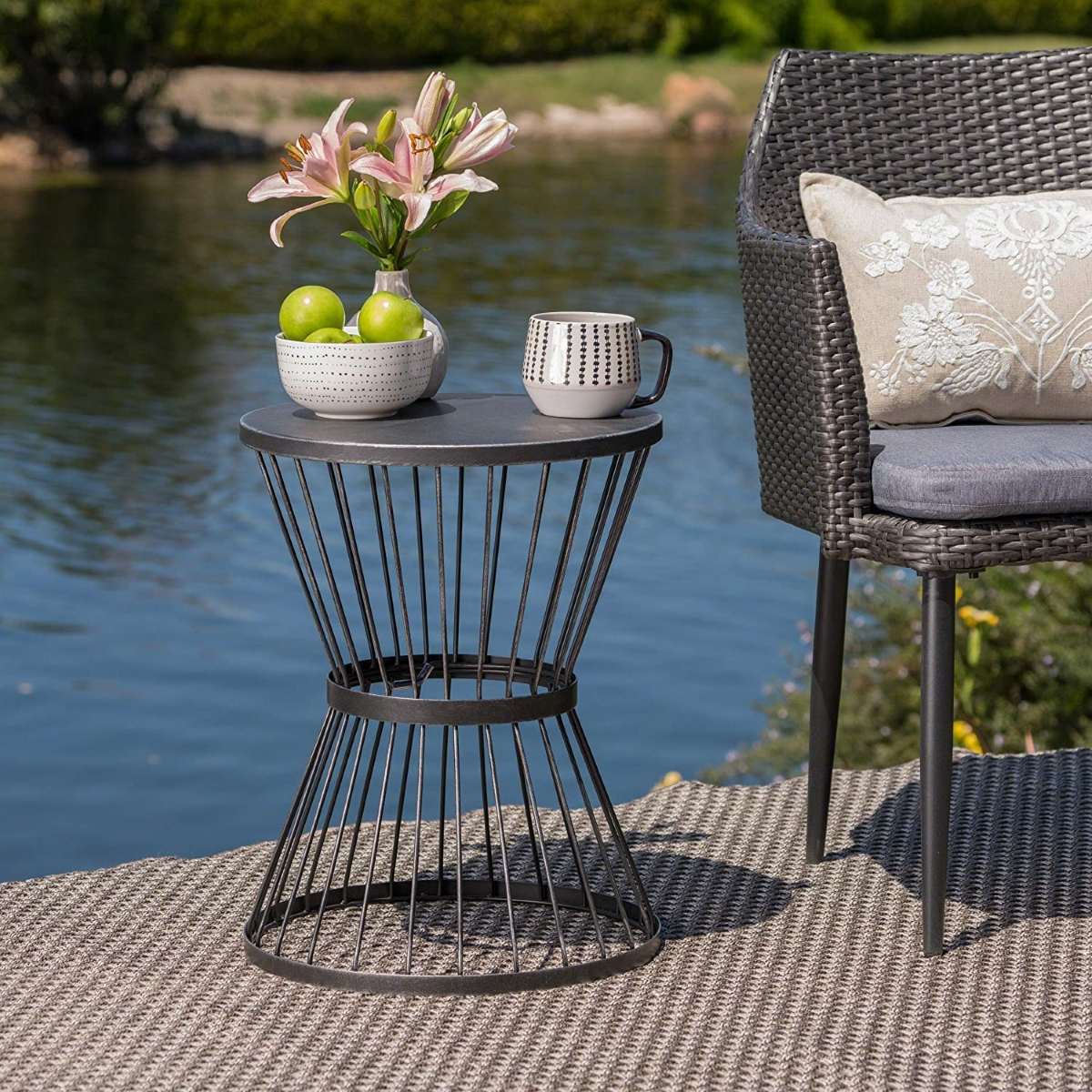 Iron-outdoor-side-table