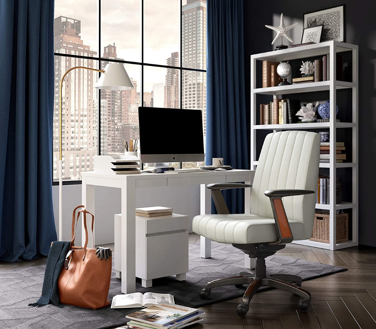 La-Z-Boy-Bennet-Big-Tall-Executive-Leather-Office-Chair-With-Lumbar-Support