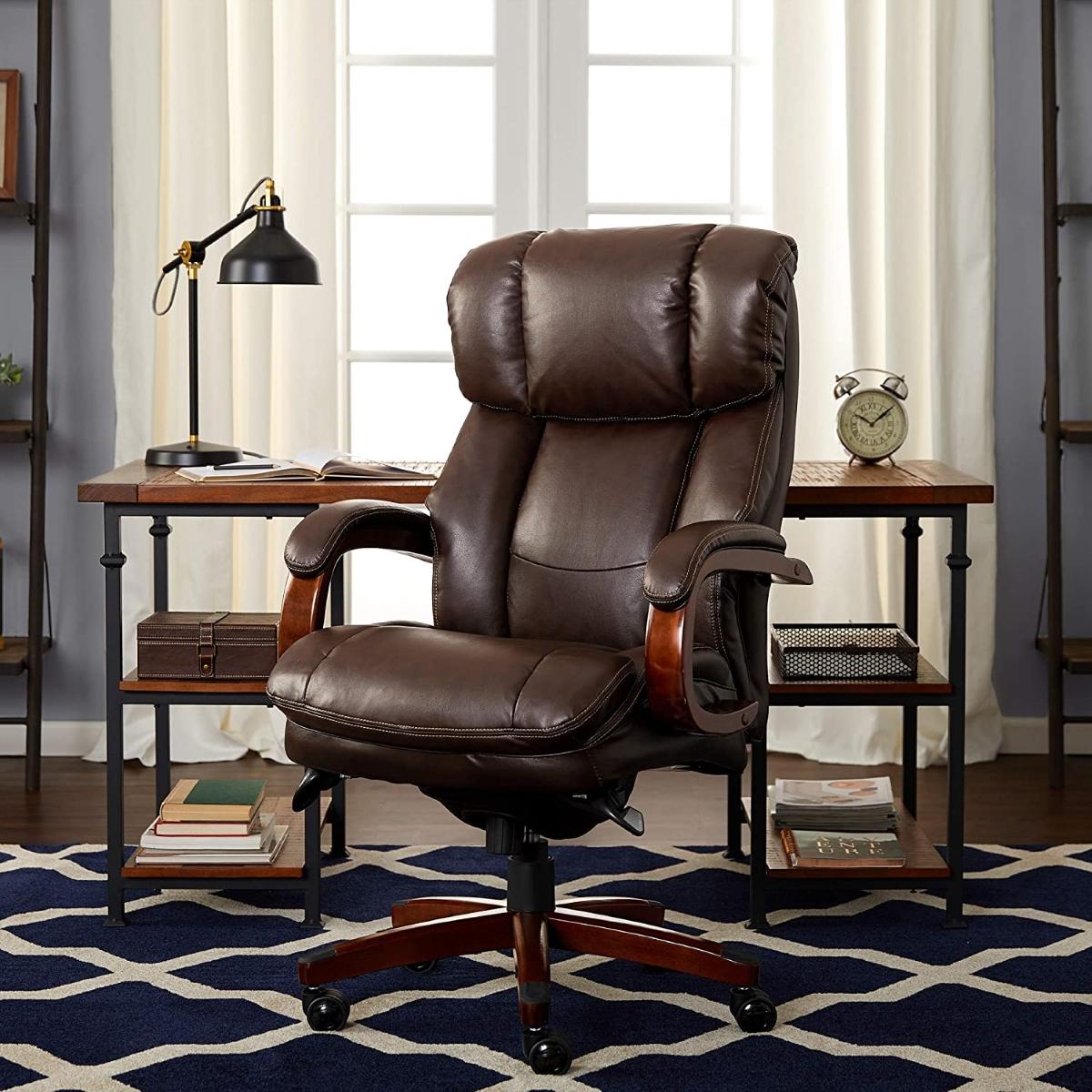 La-Z-Boy-Fairmont-Big-Tall-Executive-Leather-Office-Chair