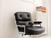 Mid-Century-Modern-Eames-Executive-Black-Leather-Office-Chair