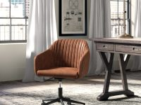 Mid-Century-Tan-Leather-Office-Chair