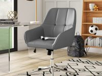 Minimalist-Grey-Leather-Office-Chair