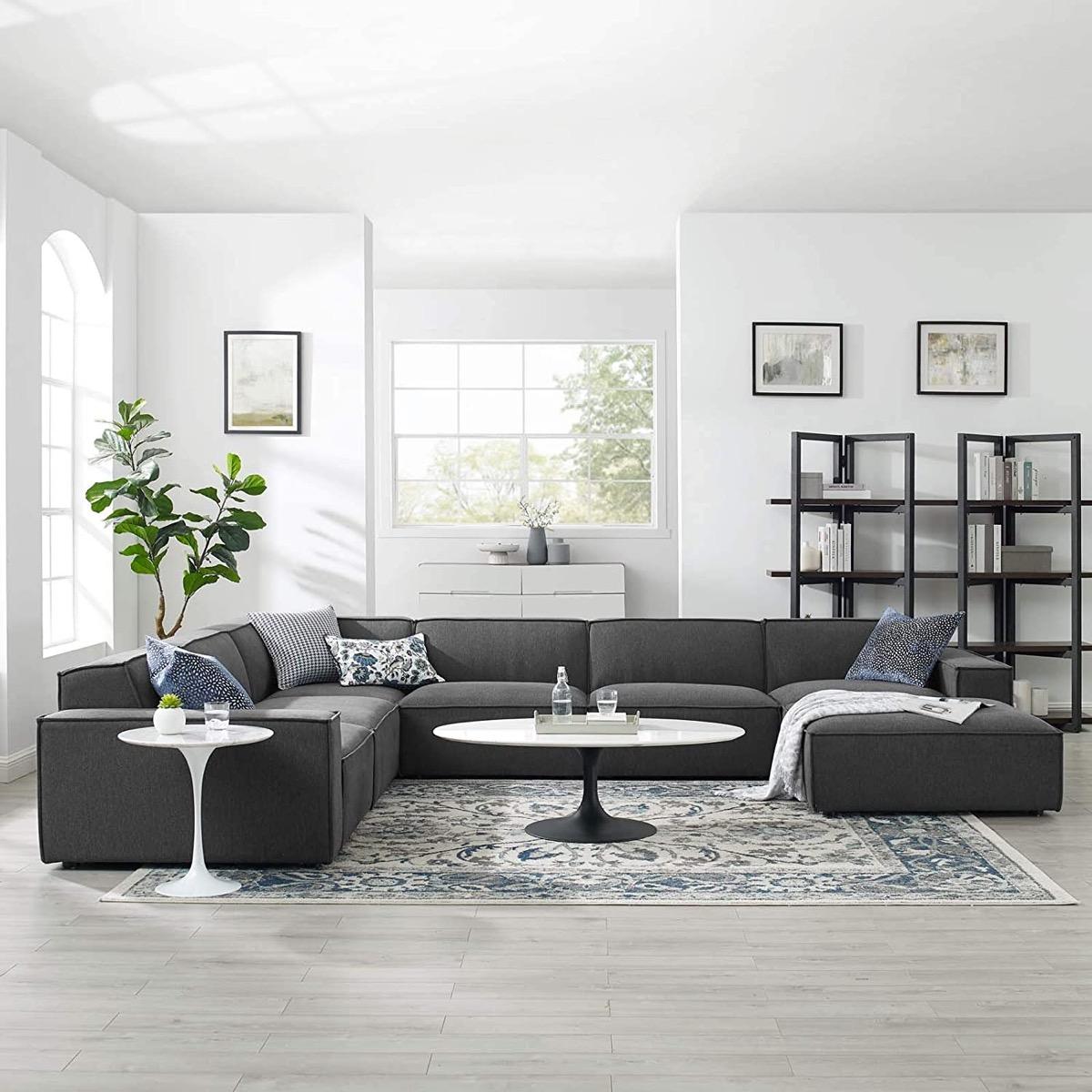 Modern-Large-Gray-Modular-Sofa