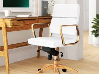 Modern-White-Office-Chair-Accented-in-Gold