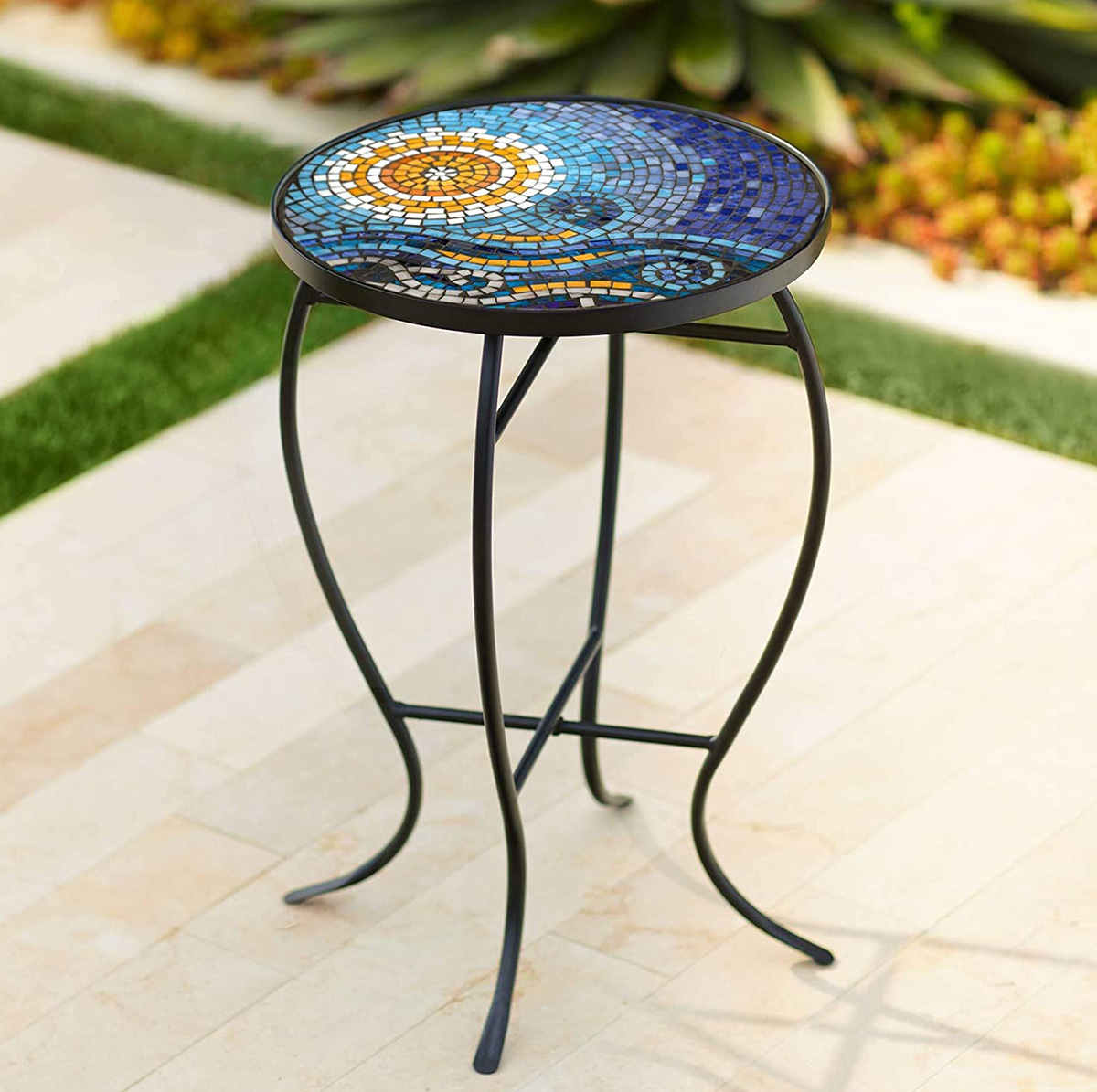 Mosaic-Outdoor-Side-Table