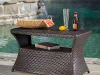 Outdoor-Wicker-Side-Table-With-Umbrella-Hole
