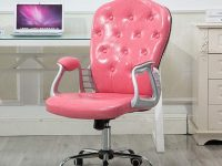 Pink-Lady-Tufted-Leather-Office-Chair