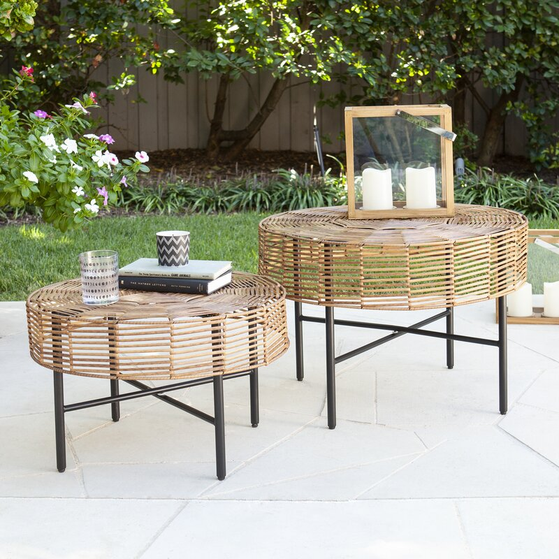 Round-Wicker-Outdoor-Side-Table-Set
