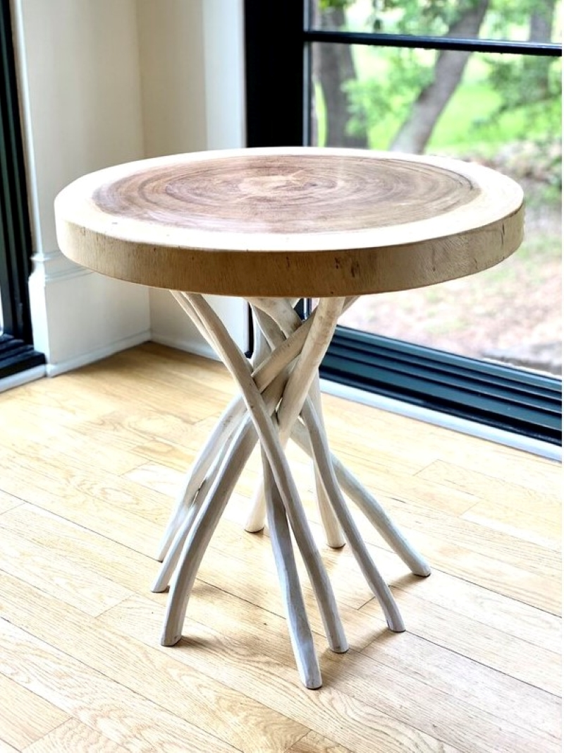 Rustic-Style-Wooden-Outdoor-Side-Table