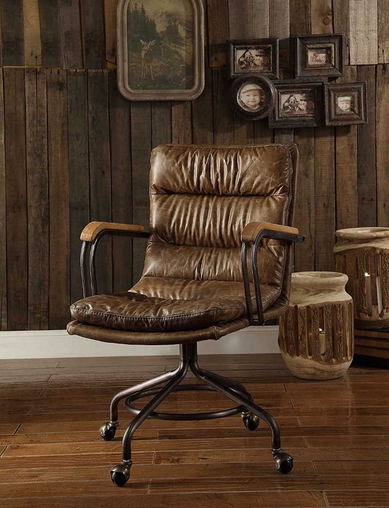 Rustic-Top-Grain-Leather-Office-Chair