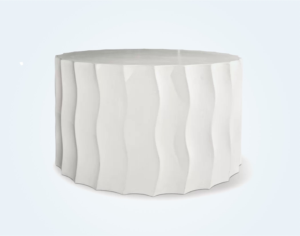 Sculptural-Drum-Shaped-Outdoor-Side-Table