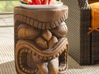 Sculptural-Wooden-Tikki-Outdoor-Side-Table