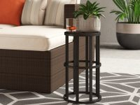 Simple-Black-Outdoor-Side-Table