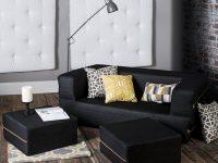 Small-Black-Modular-Sofa