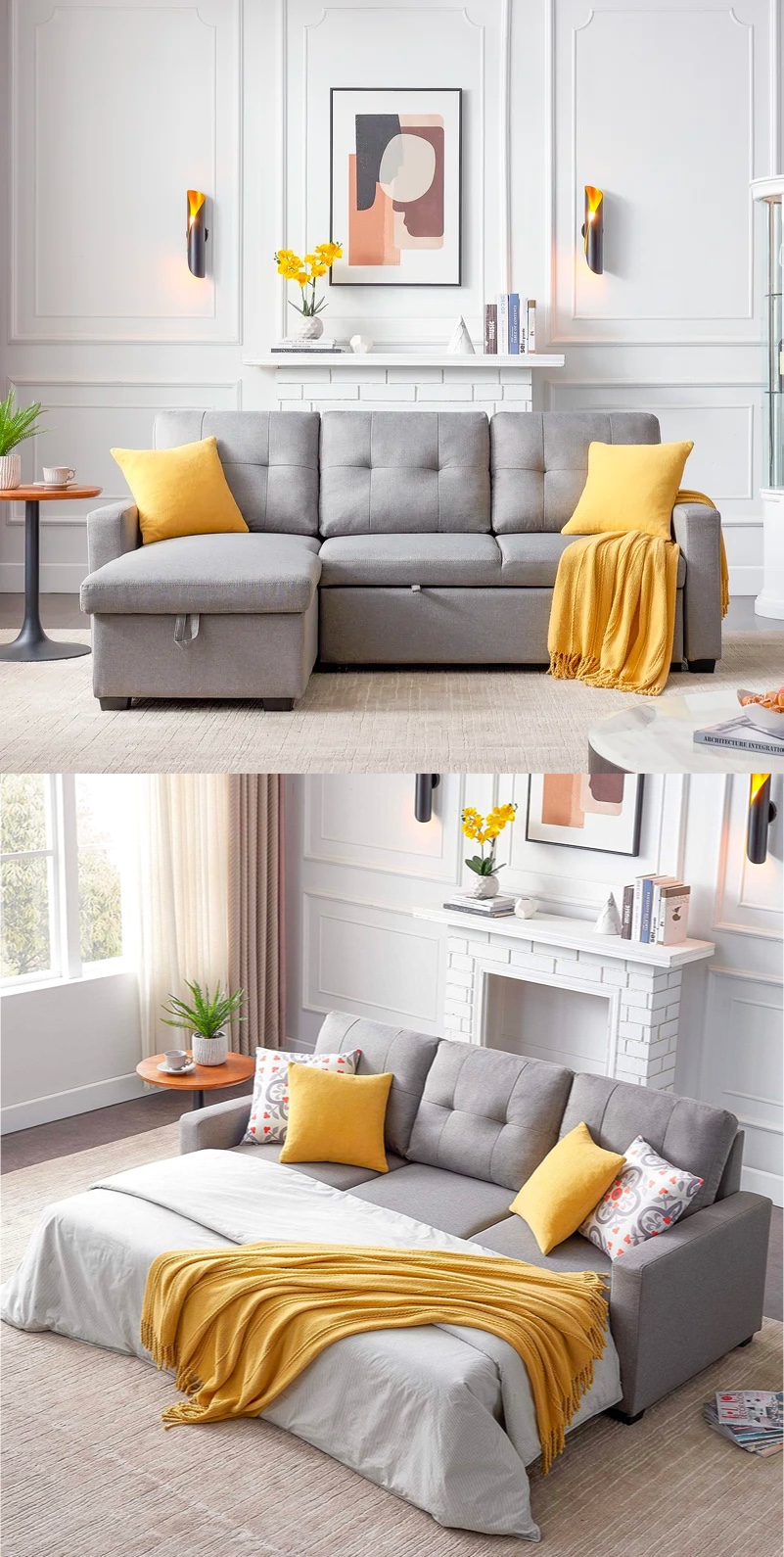 Small-Grey-Sectional-Sleeper-Sofa-With-Storage