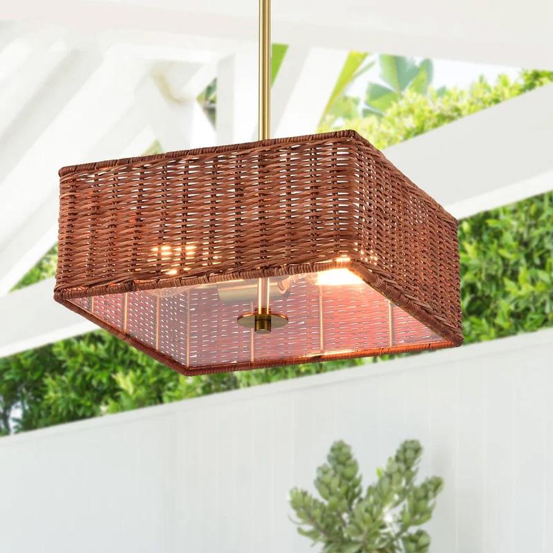 Square-woven-rattan-pendant-light