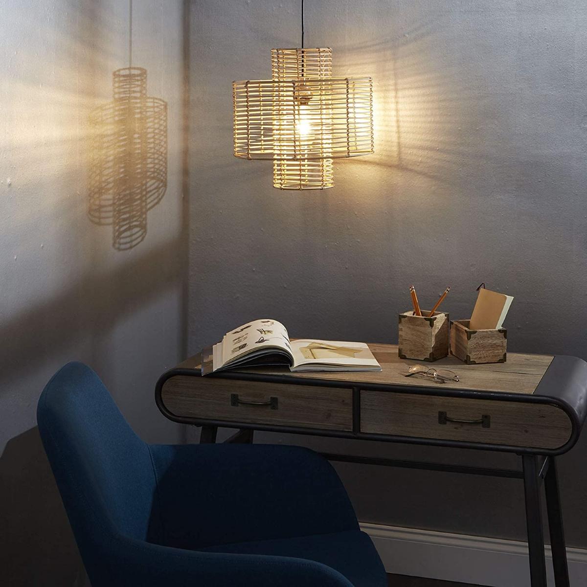 Transparent-rattan-pendant-light-shades