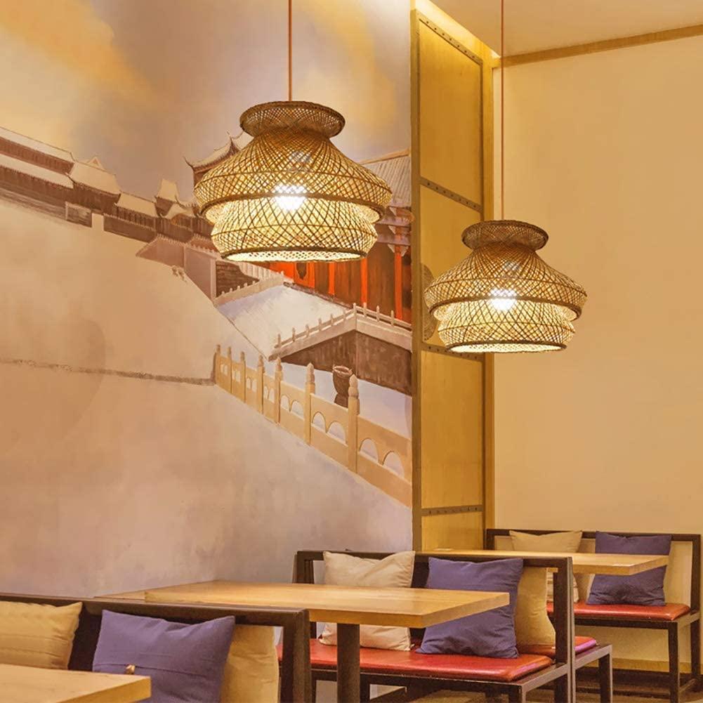 Triple-woven-bamboo-rattan-pendant-light