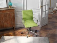 Versatile-Green-Minimalist-Leather-Office-Chair