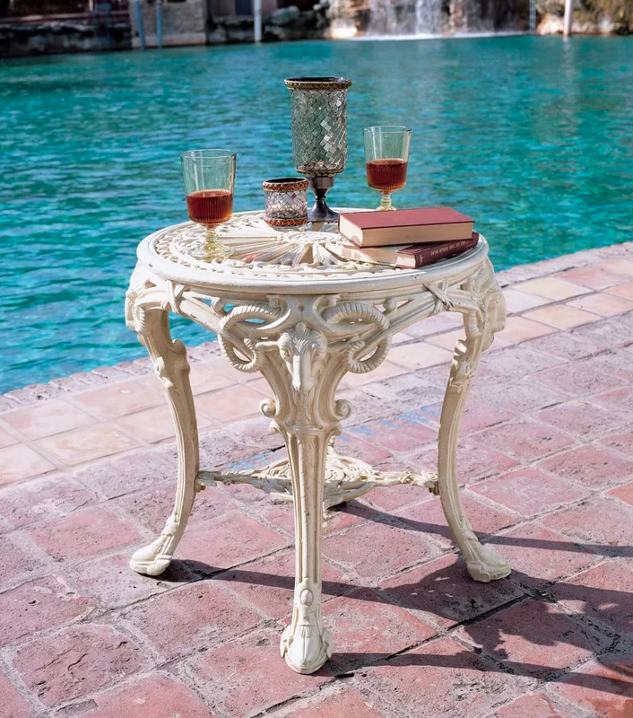 Victorian-Style-Outdoor-Side-Table