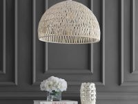 White-Dome-Shaped-Rattan-Pendant-Light