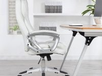 White-Modern-High-Backed-Leather-Office-Chair