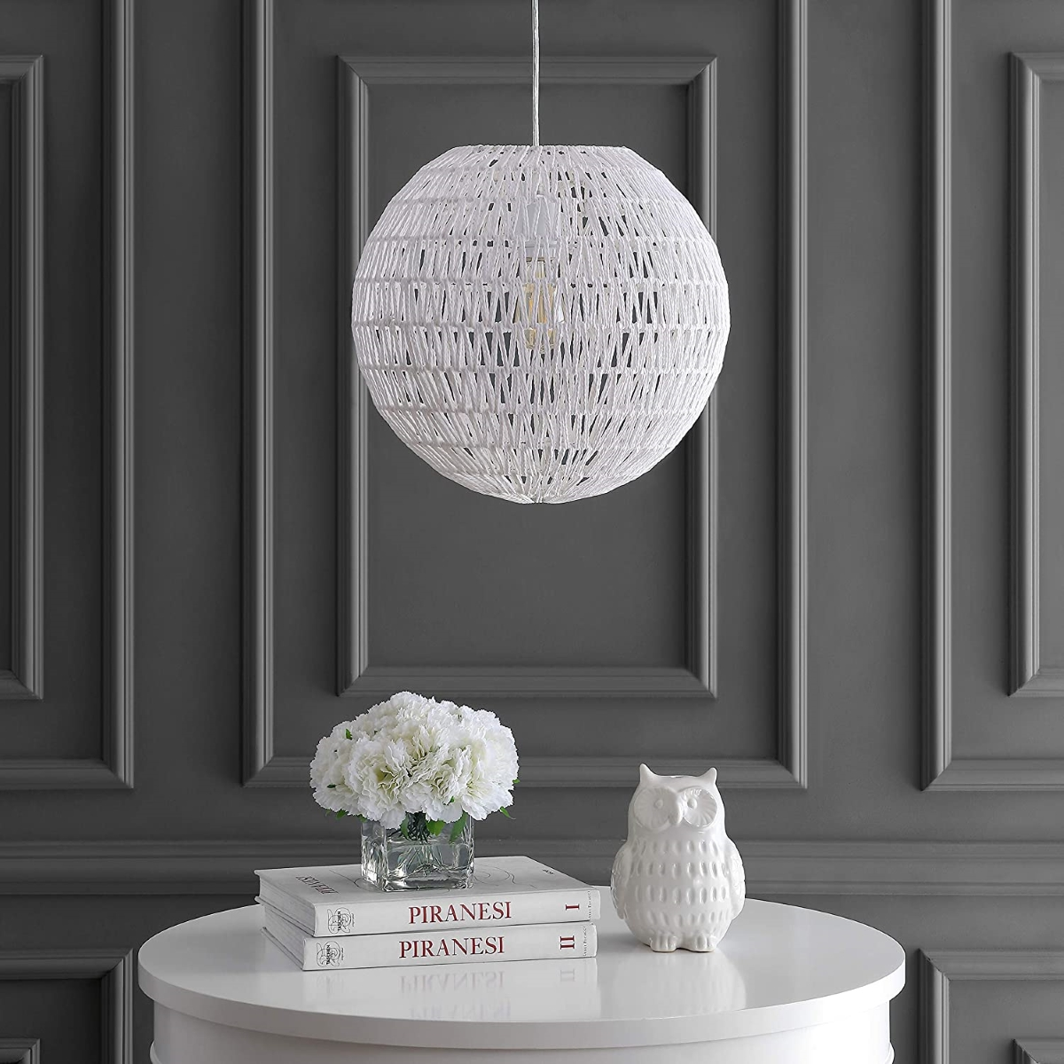 White-rattan-ball-pendant-light