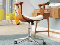 Wood-and-Leather-Office-Chair