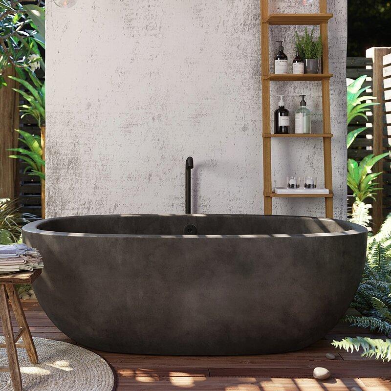beautiful-concrete-bathtub-freestanding-oval-design-thick-walls