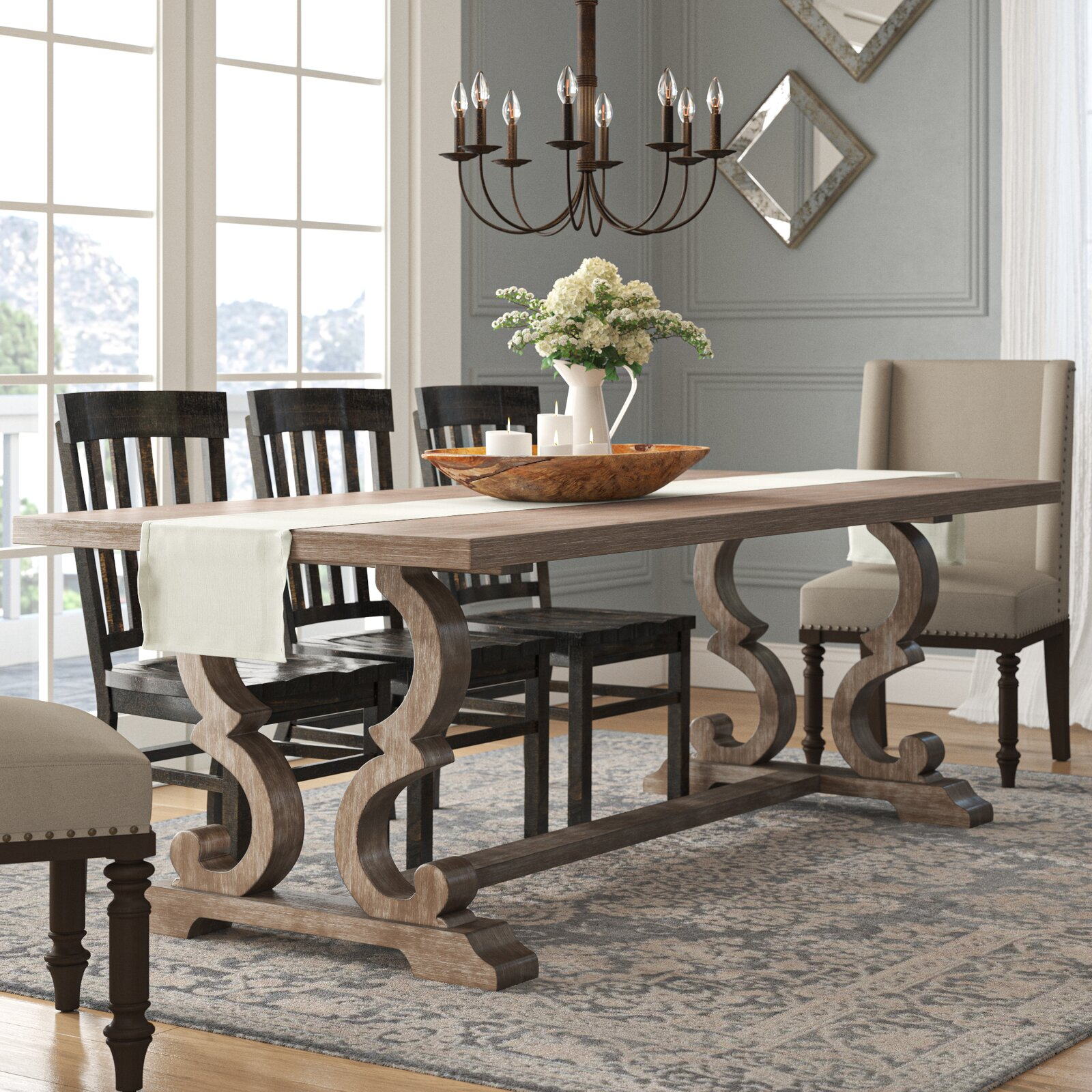 beautiful-farmhouse-wood-dining-table-elegant-decorative-trestle-base-expandable-leaf-90-inch-tabletop-dining-furniture-for-large-families